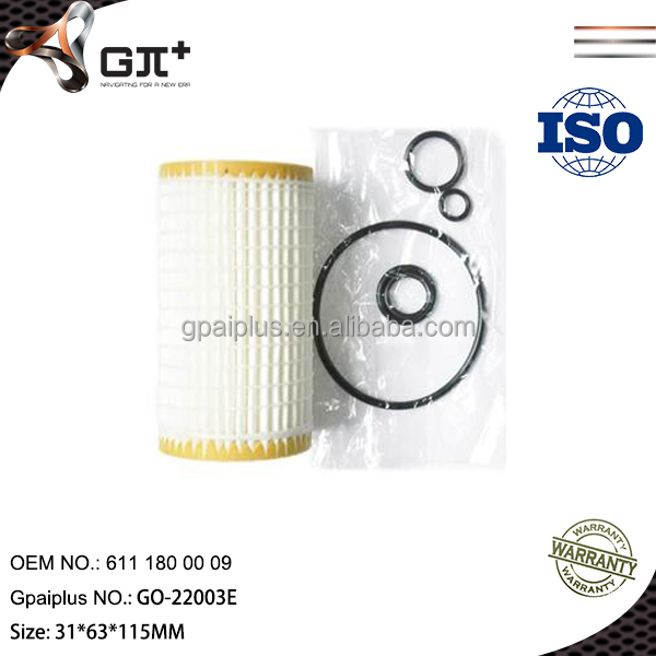 Oil filter for Jeep Grand Cherokee II 611 180 00 09