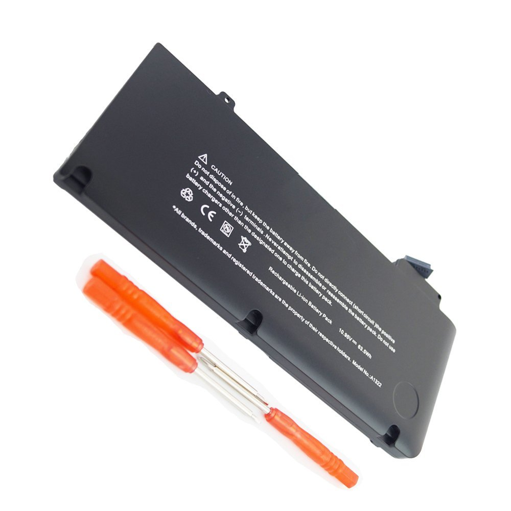 """DJW 10.95V 63.5Wh Laptop Battery for Apple MacbookPro 13-Inch Unibody A1322 A1278 (2009 2010 2011 Version) MacBook Pro 13"""" MB990LL/A- MB990-A MB990CH-A MB990J-A [12 Months Warranty]"""