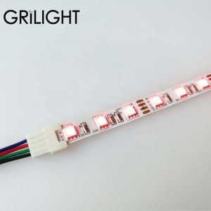 brand new solderless led strip connector dc 4 pin rgb led strips connect cable led strip connection
