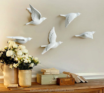 White Bird Room Decor Resin Baby Wall Stickers