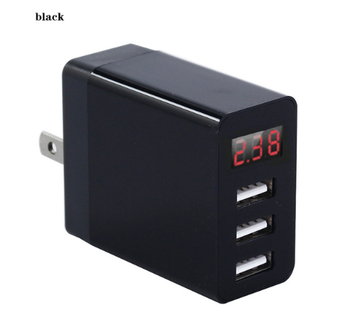 LED 3 พอร์ต USB Charger Digital Display AMP ชาร์จ 5V 3.1A 15W USB Wall Charger