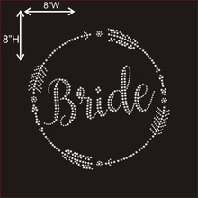 Custom Rhinestone Crystal Bride Design Hotfix Sparkle Stone Transfer