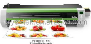 sticker printer and cutter small size sticker cut plotter machine PC-750 from Crystek