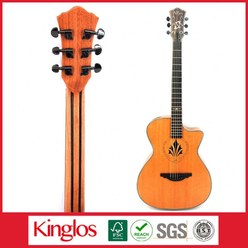Popular Artistic Colorful Solid Wood Acoustic Dreadnaught Guitar With a reasonable price for Whlesaling (S41U-010-009)