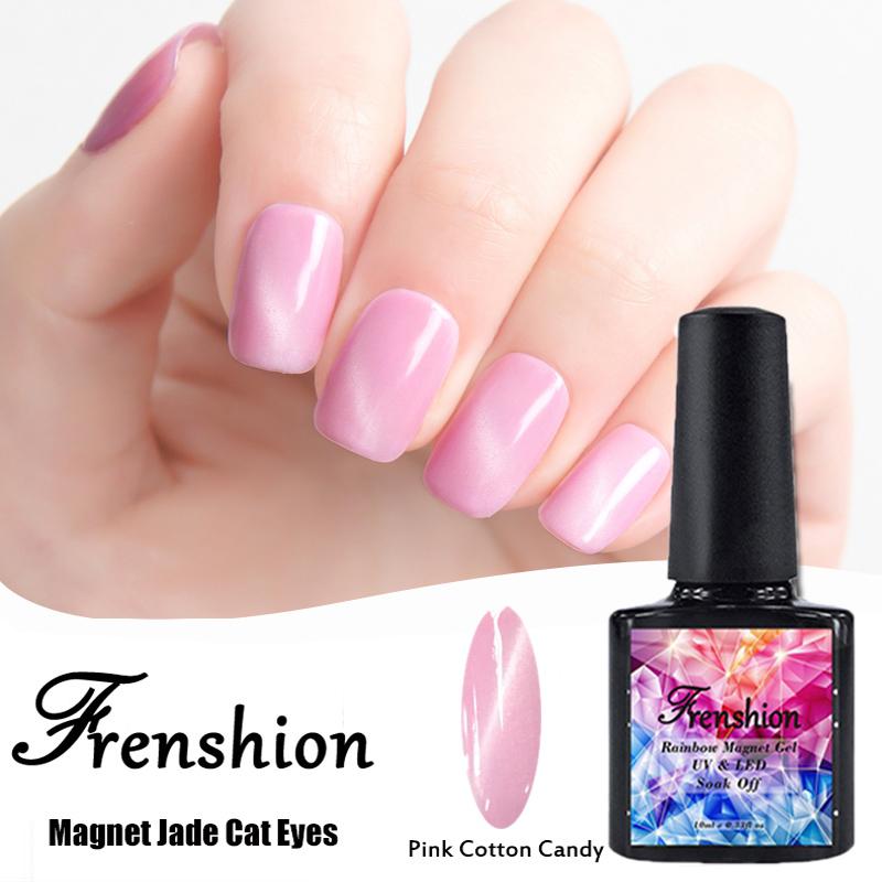 Frenshion Wholesale 3d Jade Cat Eye Gel Polish Uv Nail Soak Off Vasi Most Selling Need Magnet Nails Salon Color