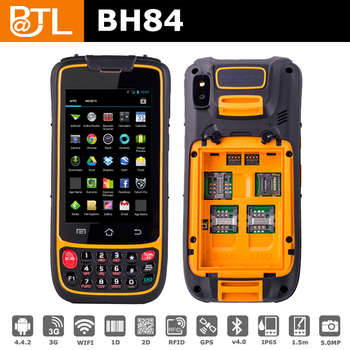 Rugged Handheld Terminal With Batl Bh84 S90 1d Barcode 2d Rfid Reader Smartphone