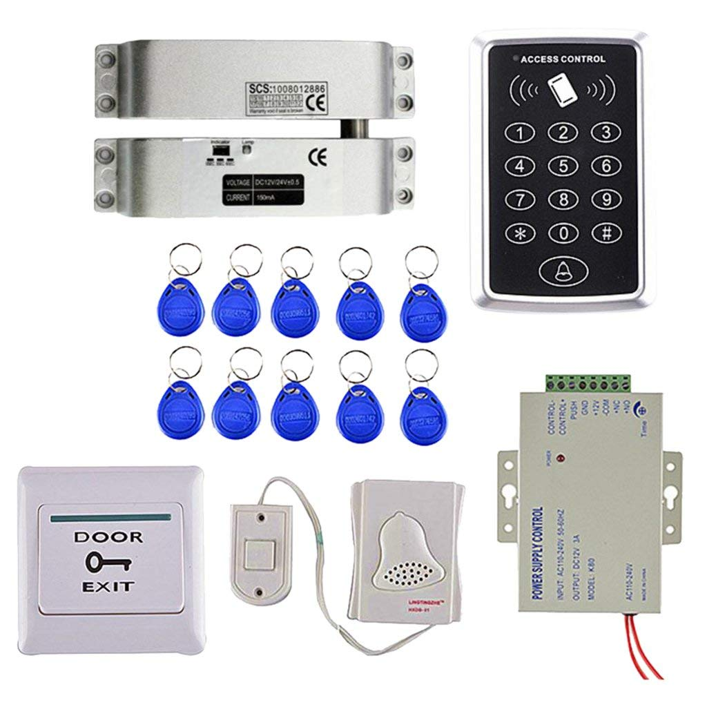 get quotations · magideal door access control system controller touch  button rfid reader keypad + electric strike lock+