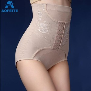 Lace High Waist Shape Panty Women Slimming Shape Underwear Body Shaper