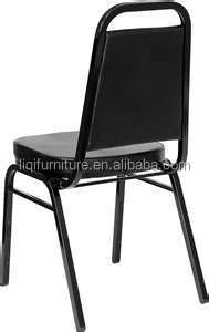 South America Style Black Stacking Rental Iron Banquet Dining Chair