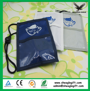 Custom high quality nylon badge holder with pen and ID card