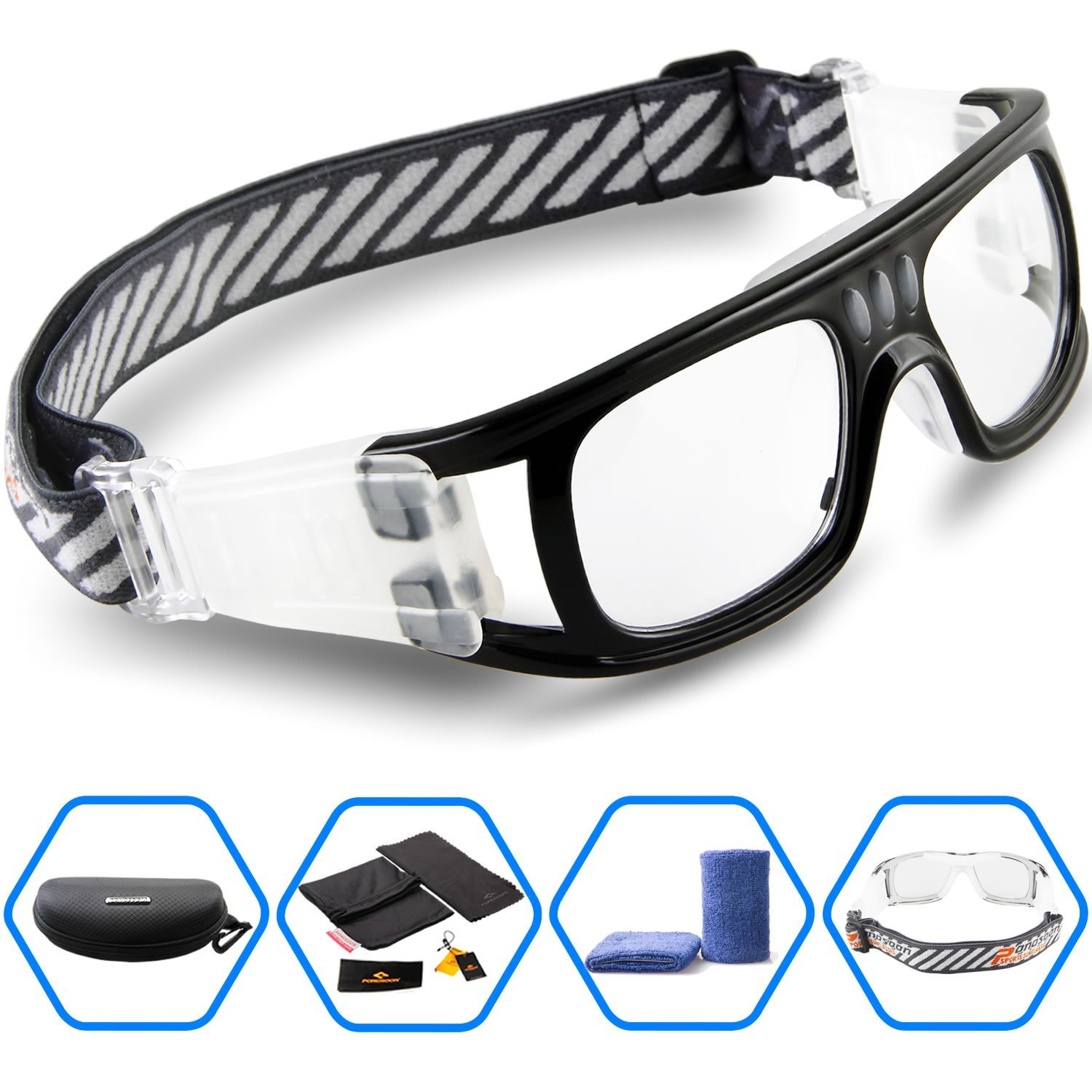 4a95020bca PONOSOON Sports goggles for basketball football volleyball hockey Paintball  Lacrosse1831