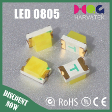 0805 CRI>80 1.1mm thick clear lens 0.25w 1.5V white/warm white led