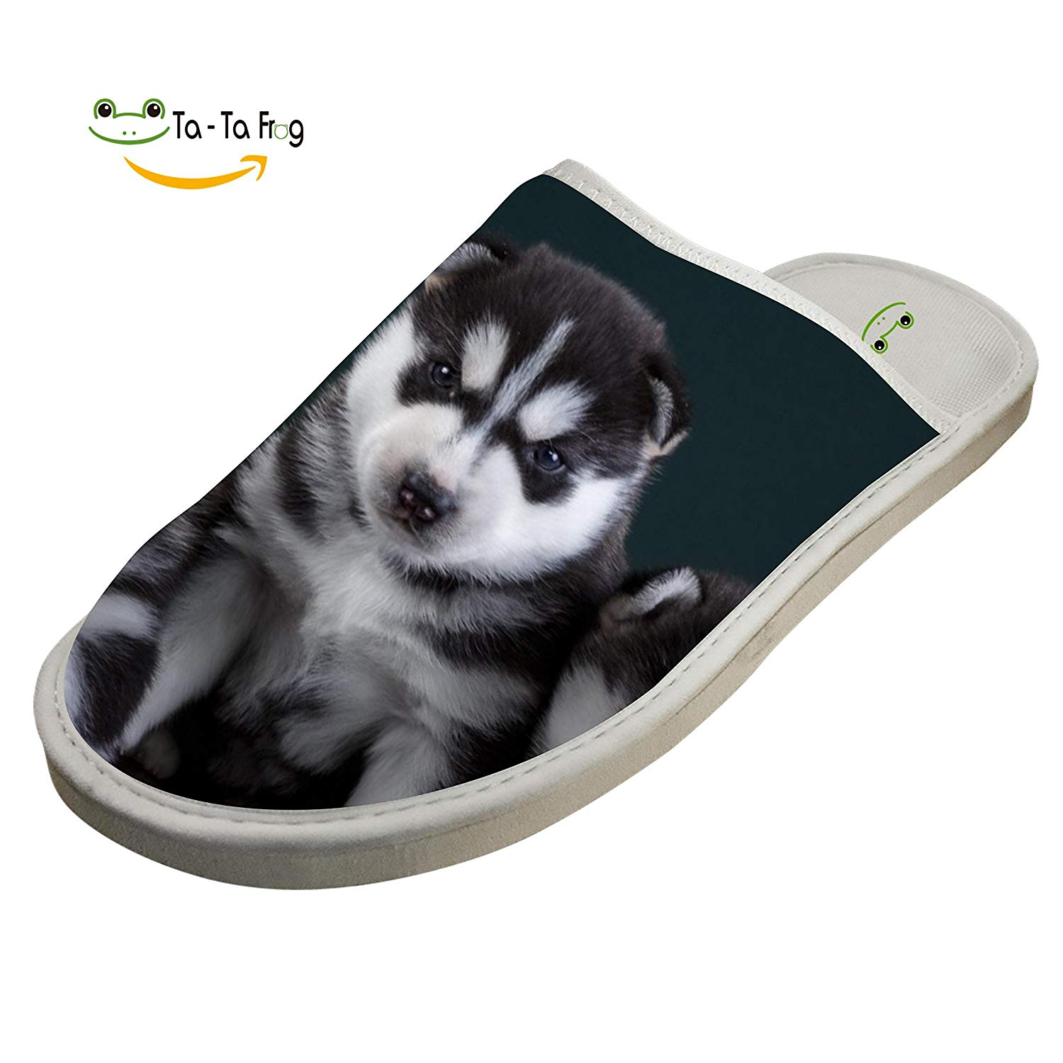 Getime Cartoon 3D Husky Dog Cotton Slippers Warm Shoes