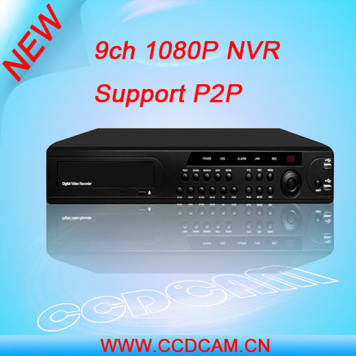 CCTV NVR network video recorder with 9 channel P2P CCTV ONVIF NVR player NVR7209F