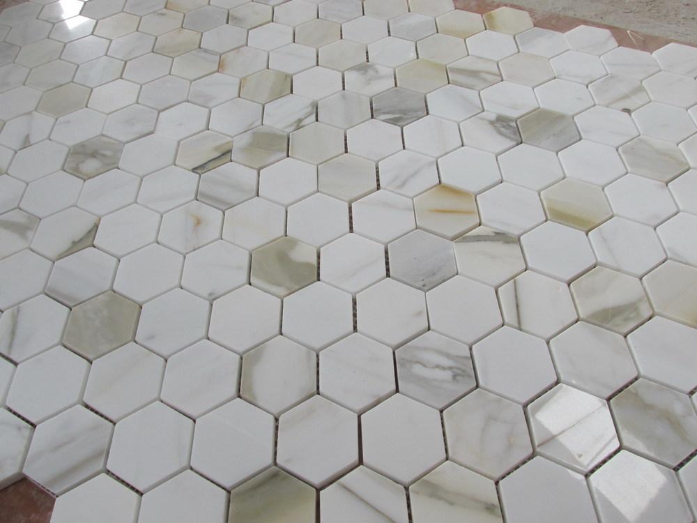 Calacatta oro esagonale piastrelle del bagno buy bagno