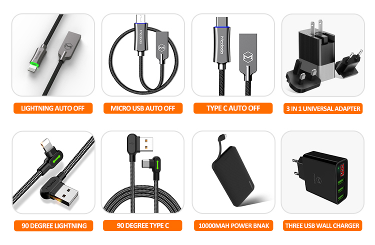 Mcdodo Wholesales 2020 New Trend  Mobile phone 18W PD/QC/AFC/FCP 5V,3A/9V,2A/12V,1.5A  Fast Charge In Car Charger