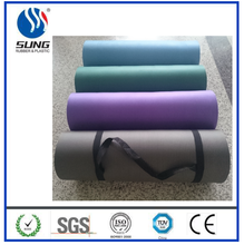 China directly factory rubber material round yoga mat