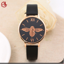Luxury Leather Women Dress Watches Wristwatch Fashion Bird Ladies Bracelet Female Round Clock Quartz Watch