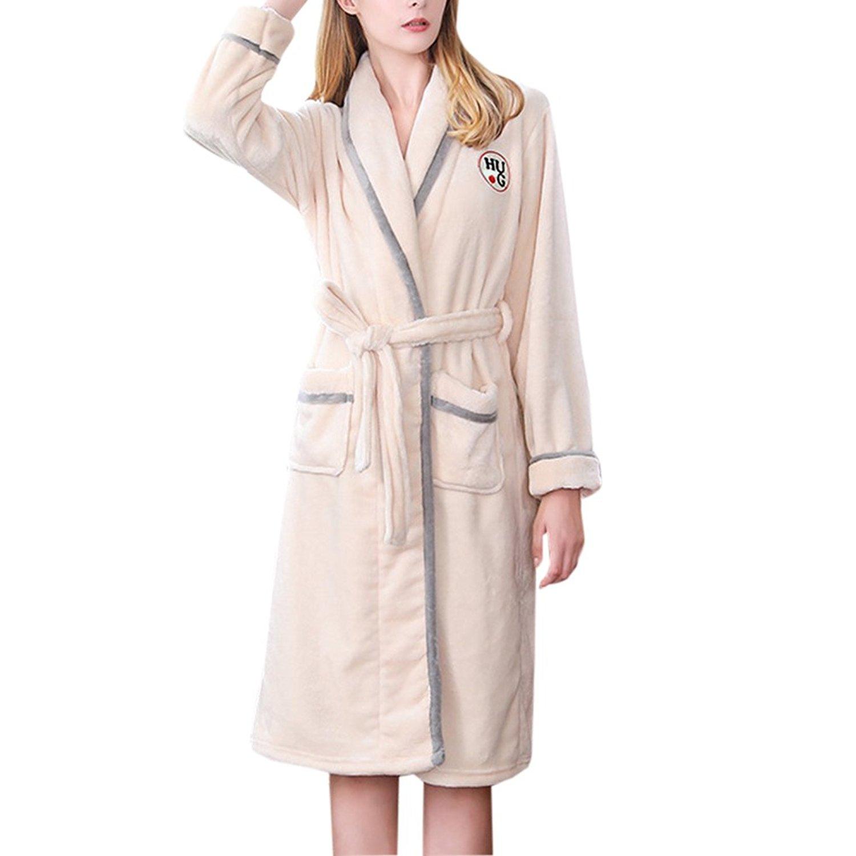 Get Quotations · Zhhlinyuan Ladies Winter Soft Housecoat Fleece Bath Robe  Dressing Gown Bathrobe 0ed177ae5