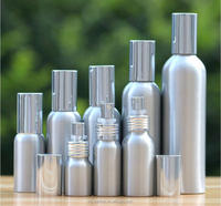 Empty aluminum fine mist atomizer bottles 1 oz / 2 oz 50ml 80ml 100ml 200ml 250ml aluminum spray pump bottles