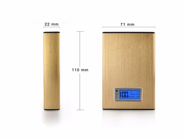 New products 8800mah promotion factory price laptop power bank 18650 Lithium Battery external Dual USB LED light power bank