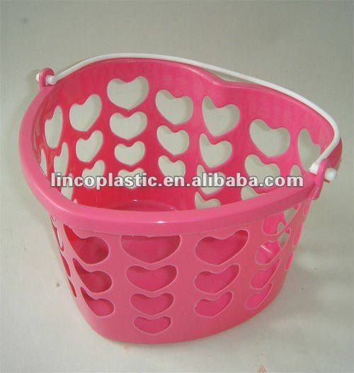 plastic hanging basket with heart shape
