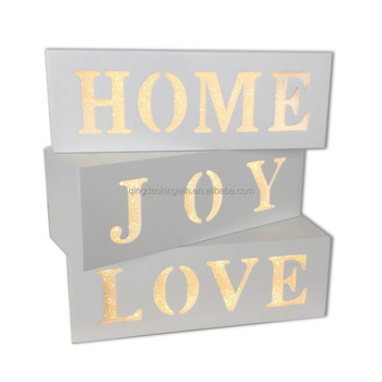 Wood Decorative Light Box
