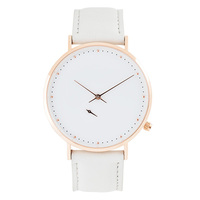 Classic design mineral glass custom logo women ladies leather watch