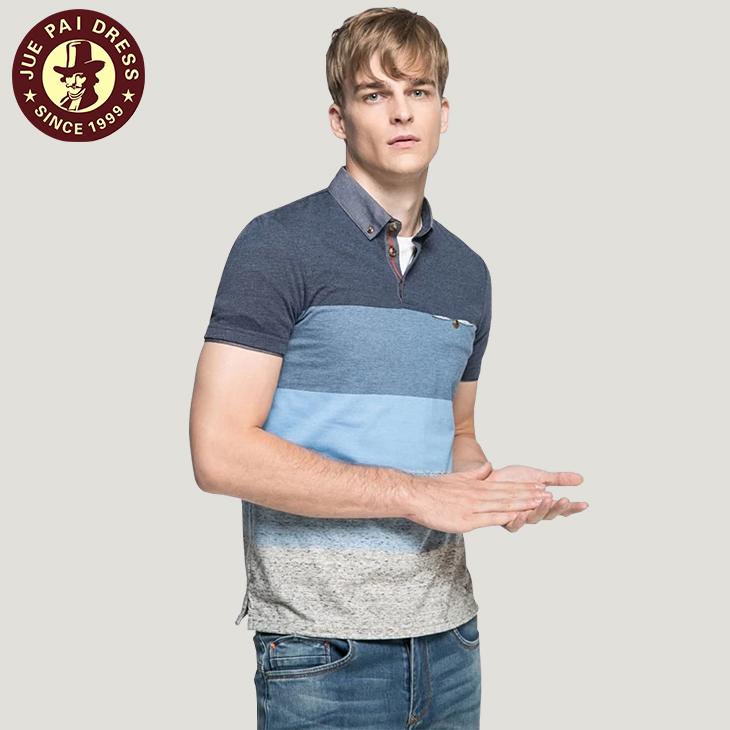 Tecido da Camisa Gola Polo Com Personalizado de Alta Qualidade Workwear Elegante  Camisas Formais Para Homens 37d0ae60a8b01