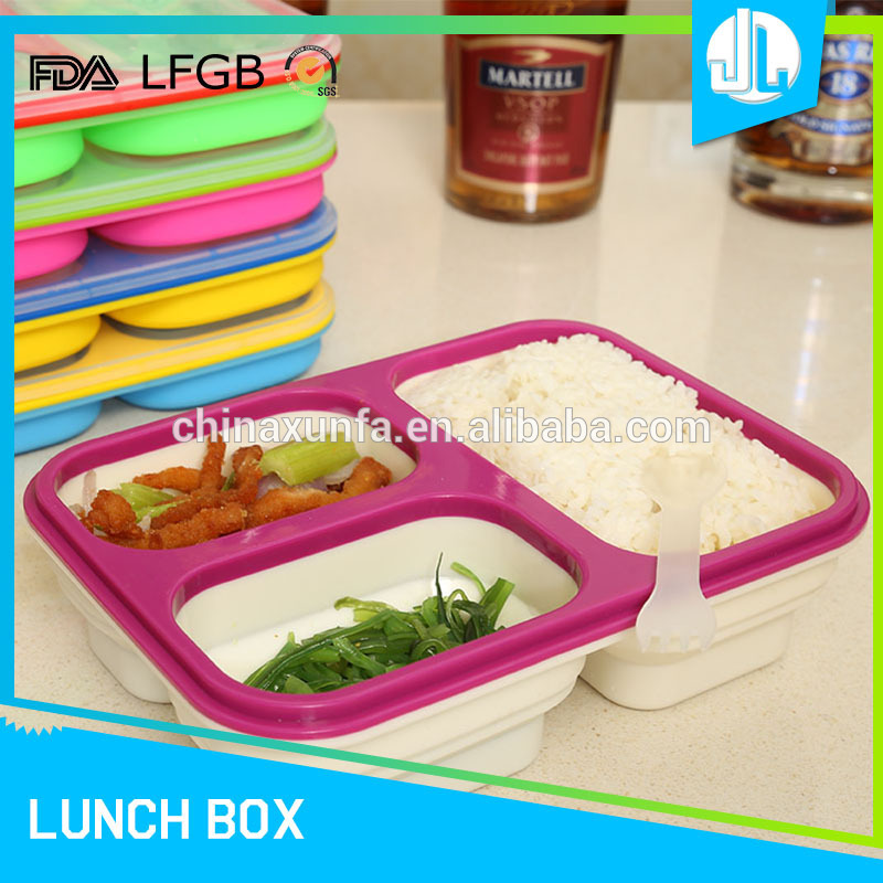 China market latest design silicone vertical lunch box