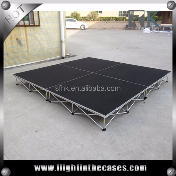 "Outdoor Event Stage Platform 4' X 8' X 16"" (Industrial Deck )"