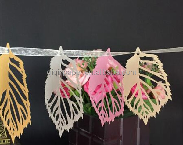 Fall leaves garland autumn decor garland home wedding outdoor decoration