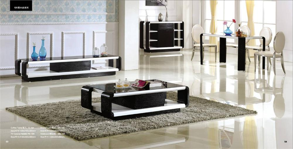 Black-Wood-Living-Room-And-Dinnign-Room-Set-4-Piece-Coffee