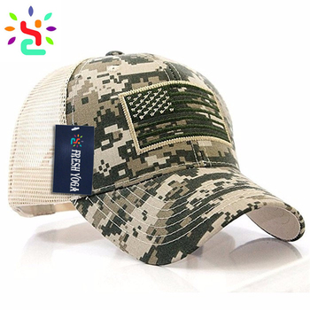 Camo trucker hat American flag hat 6 panel mesh baseball cap embroidery  patch trucker cap custom 0940bb2c244