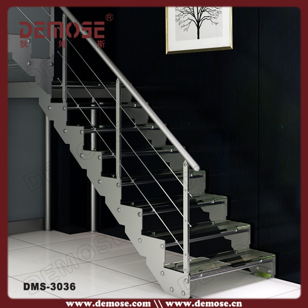 Glass Stairs Grill Design With Steel Railings Buy Glass Stairs Led