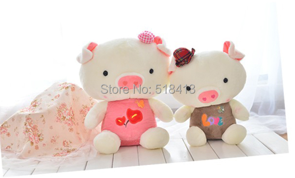 Creative couple pigs wedding anniversary doll plush toys fair young men and women friends birthday gift bag mail