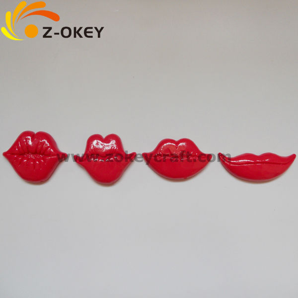 environmental Sexy red lip photo booth props Polymer Clay photo props set