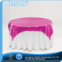 Banquet china wholesale Printed flocking taffeta tablecloths