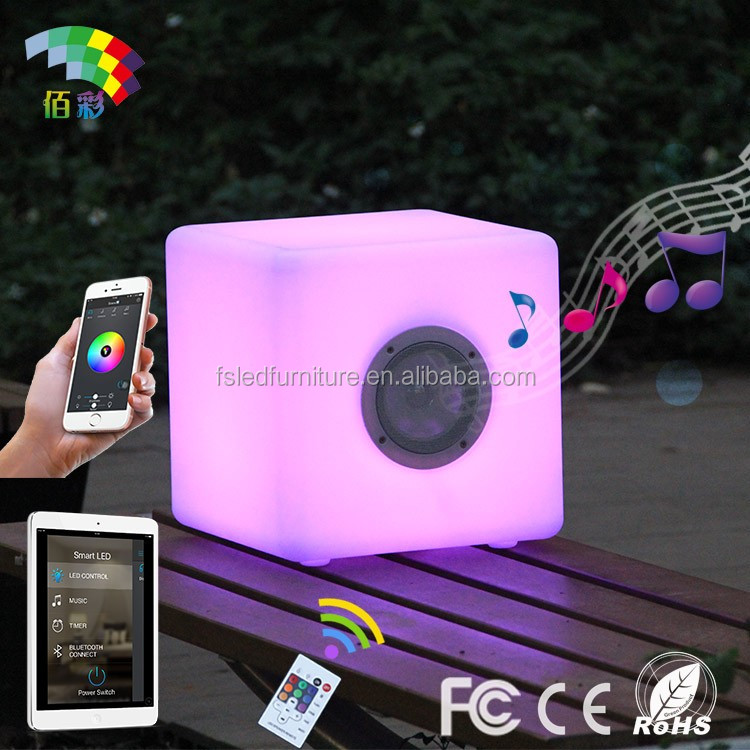 (New) minicube led light and led waterproof pool cube with speaker