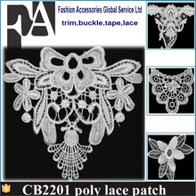 POLYESTER Embroidery flower collar lace/ dress patch