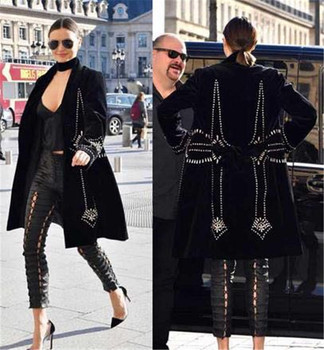 select for newest newest collection where can i buy 2018 Fashion Beading Celebrity Party Runway Women's Trech Coat - Buy  Women's Coat,Women Trench Coat,Women Trench Coat Product on Alibaba.com