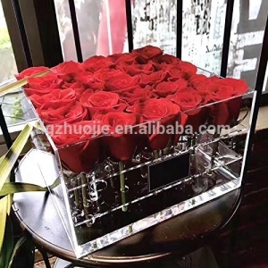 Hot Sale Acrylic Box for Flowers Packing or Vase (25 holes box,not including roses)