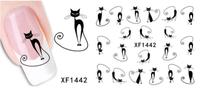 Wholesale 3D Vivid Cat Printing Nail Art Design Water Transfer Nail Art Sticker Wraps Printer