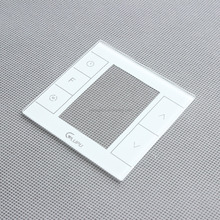Hot Saleultra white tempered glass made wall switch plate