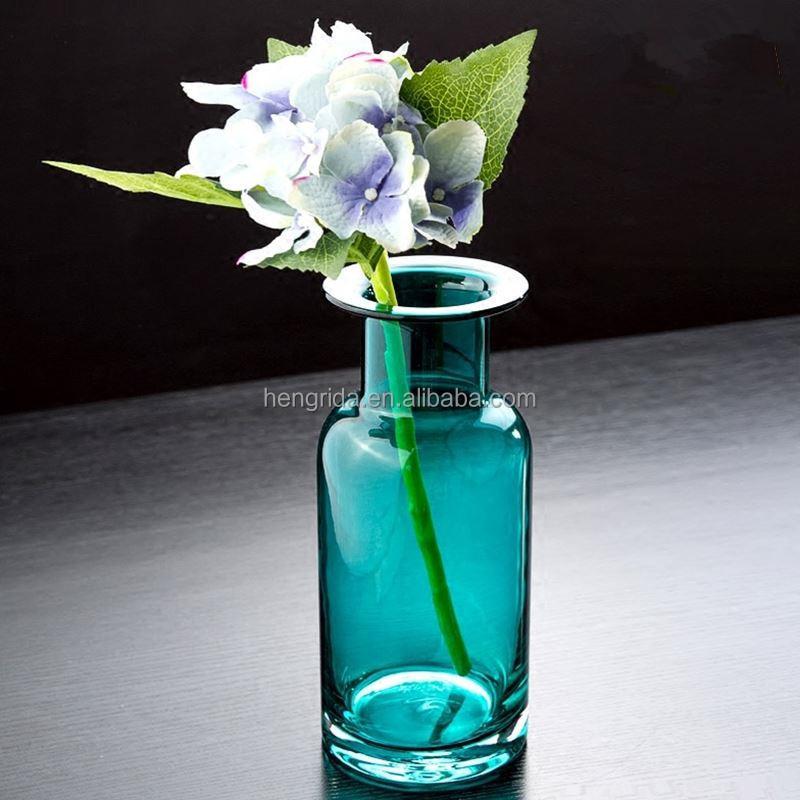 Творческий дизайн хроматические стеклянная ваза для домашнего украшения сада