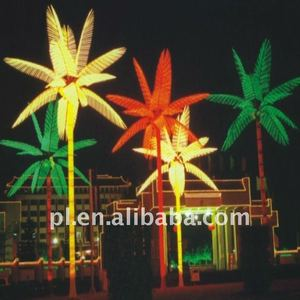 High quality 1m 2m 3m 4m 5m christmas outdoor artificial landscape decoration led coconut palm tree light