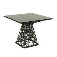 M.A.G factory price CE certified hpl compact dining table and chair with stainless steel frame
