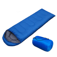 Comfort lightweight portable camping sleeping bag with compression bag