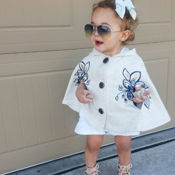 981636822 Phb12320 Fashion Cape Design Baby Girls New Hooded Coat - Buy ...