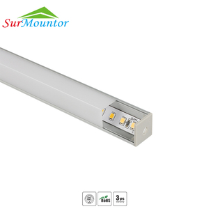 Factory Price LED Strip 45 Degree Corner LED Aluminum Profile For Cabinet Light With Mounting Clips